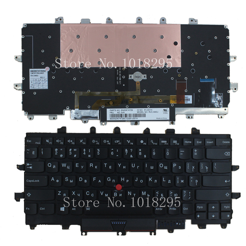 NEW for Lenovo Thinkpad Carbon X1 Gen 4 4th X1C 2016 laptop Keyboard Backlit Russian No frame balck