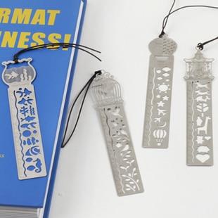 Kawaii Beautiful Fairy Tale Creative Hollow Ultra-thin Metal Ruler Bookmark Rulers Student Prizes Korean Creative Stationery
