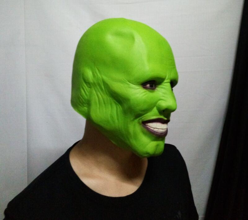 Halloween Loki Latex Mask Horror Party Cosplay Details