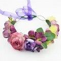 New Women Wedding Rose Flower Wreath headband Kids Party Floral garlands flower crown Hair Accessories Bridal wedding party