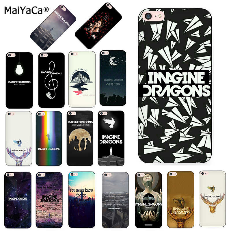 MaiYaCa night music imagine dragons music Printing phone Cover Case for iPhone 7plus 8 6S Plus X XS MAX XR 5S SE case shell