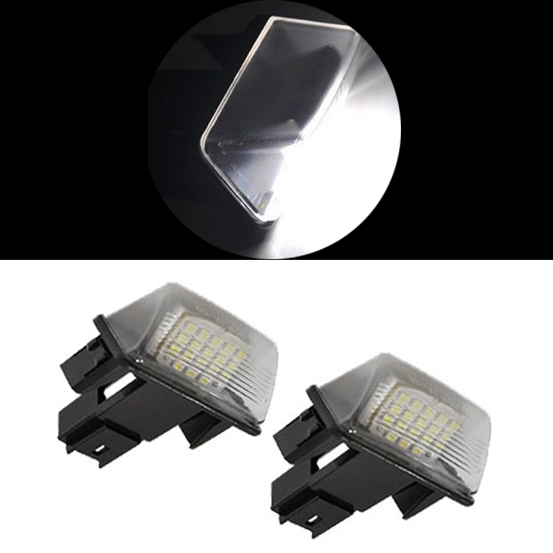 2x LED License Plate light No ERROR For Citreon C3 C4 Peugeot 207 206 406 407 306 307 308 car styling LED Light auto accessory 2pcs led license number plate light for peugeot 206 207 306 307 308 5008 406 407 for citroen picasso c3 c4 c5 c6 saxo xsara