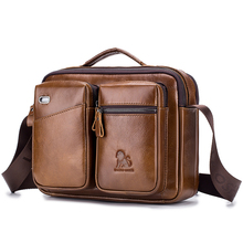 купить Luxury Brand Messenger Bag Men Genuine Cow Leather Shoulder Bag Male Top-handle Satchels Crossbody Bags For Men Business Handbag дешево