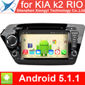 for KIA k2 RIO 2010 2011 2012 Vehicle DVD GPS Navigation Android System Radio Media Video player with free Specific Rear Camera