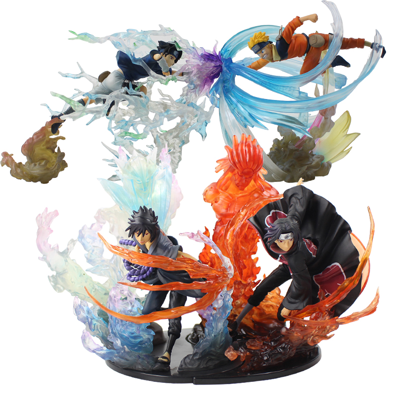 19-21cm Naruto Shippuden Fire Uchiha Itachi Sasuke Susanoo Uzumaki Figurine PVC Action Figure Model Collection Toy