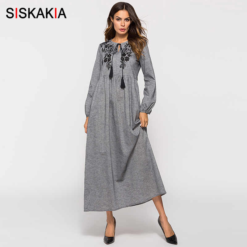 648cf4e3b4426 Detail Feedback Questions about Siskakia Chic Floral Embroidery ...