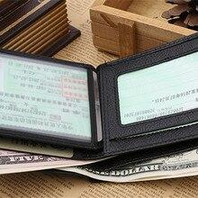 Cow Genuine Leather Men Wallet Designer Men Slim Thin Card H