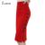 XXXXXL Más El Tamaño de La Nueva Manera 2016 de Las Mujeres Falda de Midi Falda Delgada Botón OL Rendija Abierta Atractiva Delgada Lápiz Falda Faldas de Las Señoras de La Vendimia