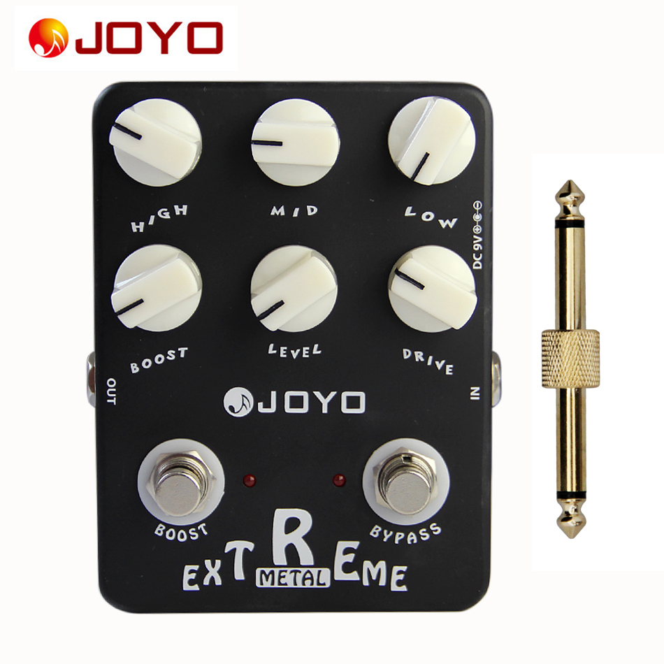 JOYO JF-17 Extreme Metal Guitar Effects Boost & Bypass Knob with One General Pedal Connector / Guitar Parts Accessories mooer ensemble queen bass chorus effect pedal mini guitar effects true bypass with free connector and footswitch topper