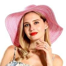 2019 New Summer Women Sun Hat Foldable Beach Cap for Lady Fashion Elegant Tourist