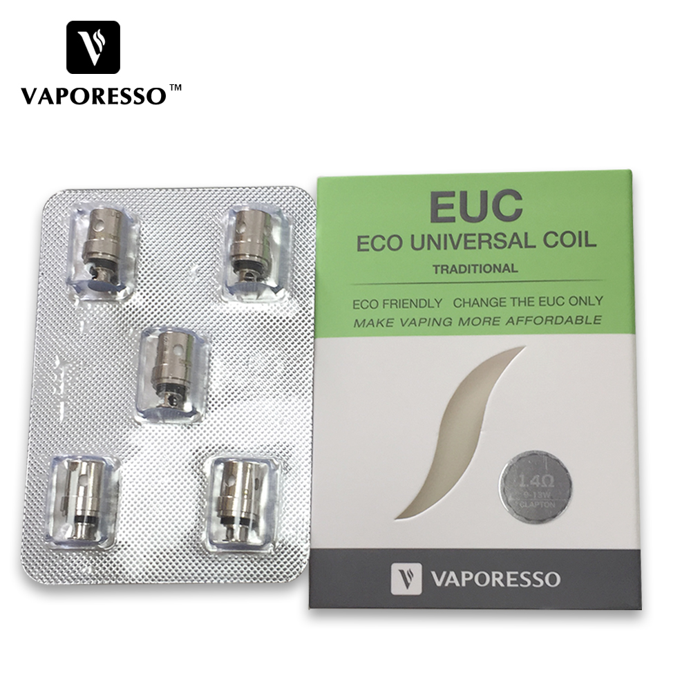 цены Electronic Cigarette Coil 5Pcs Vaporesso Ceramic Mini EUC/Clapton mini EUC Coil SS316 1.3 ohm 1.4 ohm for Drizzle Vaping Kit