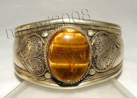 Beautiful Tibet silver tiger eye stone Bracelet