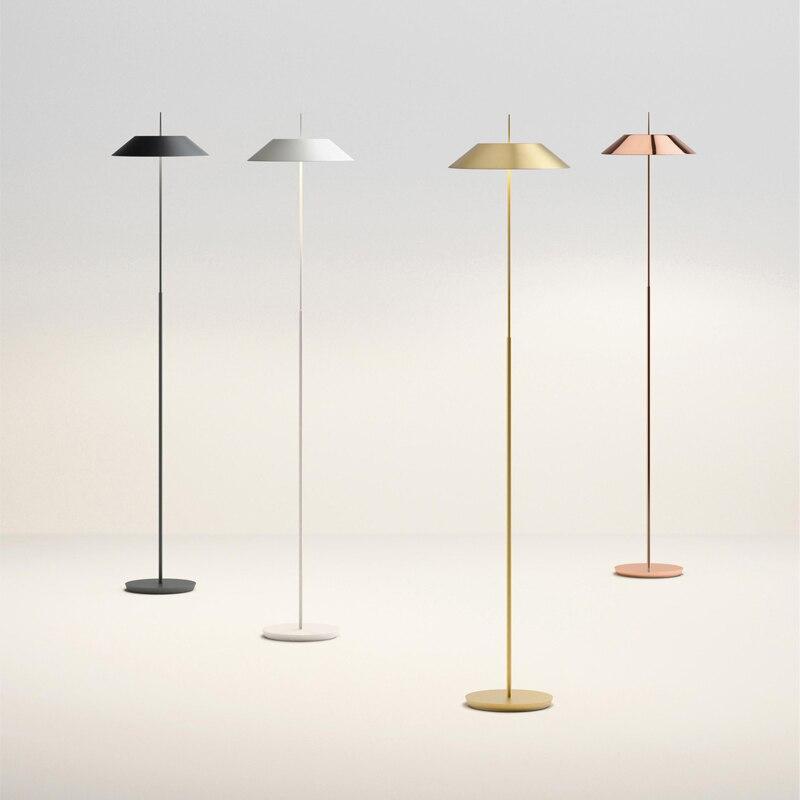 Moderna lâmpada de assoalho para sala de estar contemporânea lâmpada de cabeceira lampara de mesa metal chapeamento suporte da lâmpada designer escolha