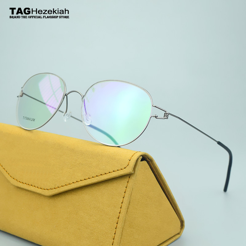 2019 TAG Brand Optical Spectacle Women Pure Hand-made With Screwless Hinge Computer Glasses Frame Men Myopia Eyeglasses Frames