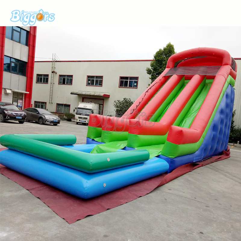Commercial inflatable bounce slide combo inflatable water slide pool for kids and adults commercial grade inflatable water game park inflatables double slide with pool for kids and adult on sale