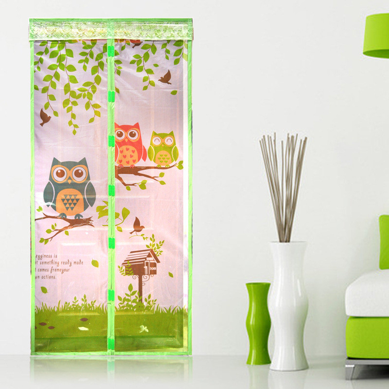 1pcs shower curtain automatic closing insect screen hot sale door curtain prevent mosquito net magnetic