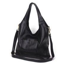 Fashion retro style casual womenleather handbags simple rivet shoulder bag large capacity soft Cowhide bolsa feminina