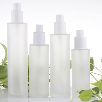100PCS A lot frosted glass bottle 30ml with spray lotion and toner pump head cosmetics and skin care packaging