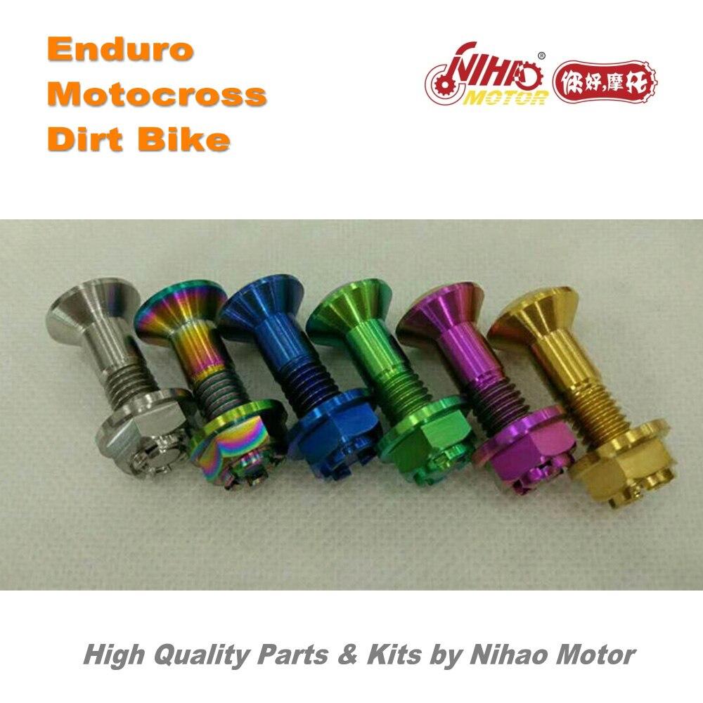 10 pièces de Motocross universel arrière sporket vis titane écrou Enduro Kit Dirt bike rechange cross Nihao moteur pour Husqvarna Wel
