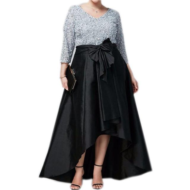 b109e3014 Vintage-negro-alto-bajo-sat-n-faldas-largas-para-mujeres -a-fiesta-Formal-talla-grande-2017.jpg 640x640.jpg