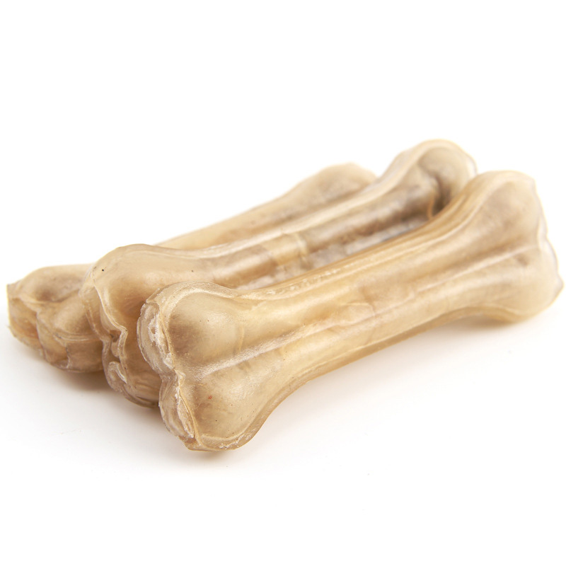 Pet Dog Toy Supplies Chews Toys Leather Cowhide Bone Molar Teeth Clean Stick Food Treats Dogs Bones for Puppy Accessories