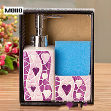MOIIO NEW Liquid Hand Soap Dispenser Ceramic Smooth Bottle Shampoo Lotion Bath