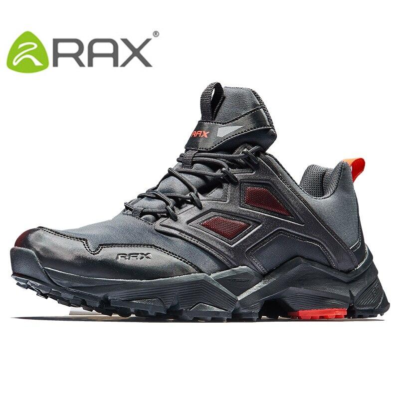 RAX 2018 Mens Hiking Shoes Men Outdoor Trekking Walking Shoes Men Large Size Hiking shoes Men Outdoor Sports Sneakers rax 2015 mens outdoor hiking shoes breathable mesh suede trekking shoes men genuine leather sneakers size 39 44 hs25