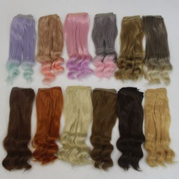 Curly Wig Roll Dolls Accessories Gradient Color Doll Wig  25*100CM Doll Hair for 1/3 1/4 1/6 BJD Diy Doll Tresses Wig Kid Gift недорого