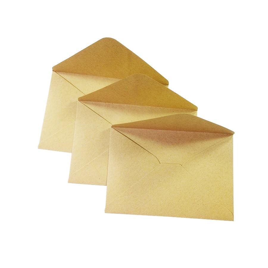100PCS/lot Vintage Kraft Paper Envelope 16*11cm DIY Multifunction Gift Card Envelopes For Wedding Birthday Party