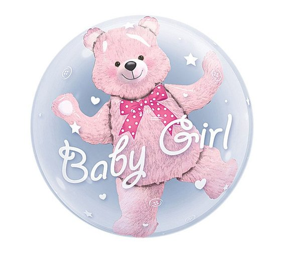 Image 2 - 24inch Baby Boy Bear or Girl Blue Pink Bubble Bear Foil Balloons Birthday Baby Shower Decorations Kids Toys Ball in Ball-in Ballons & Accessories from Home & Garden