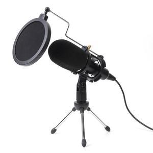 Image 1 - Alloyseed Usb Microfoon Condensator Bedrade Handheld Microfoon Condensor Met Vouwen Stand Voorruit Voor Pc Chatten 170*32*32mm