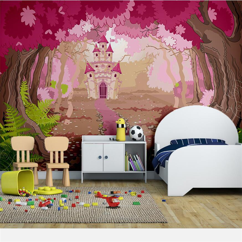 Behang Kinderkamer Jungle.Us 9 3 48 Off Beibehang Aangepaste 3d Muurschildering Behang Verse Schoonheid Jungle In Het Sprookje Kasteel Kinderkamer Achtergrond Behang 3d