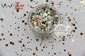 RFM321-192 Mezclar Colores formas de Punto redondo Del Brillo para el arte del clavo, gel de uñas, maquillaje y la decoración de DIY