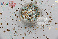 RFM321-192  Mix Colors Dot shapes round  Glitter for nail art ,nail gel,makeup and DIY decoration