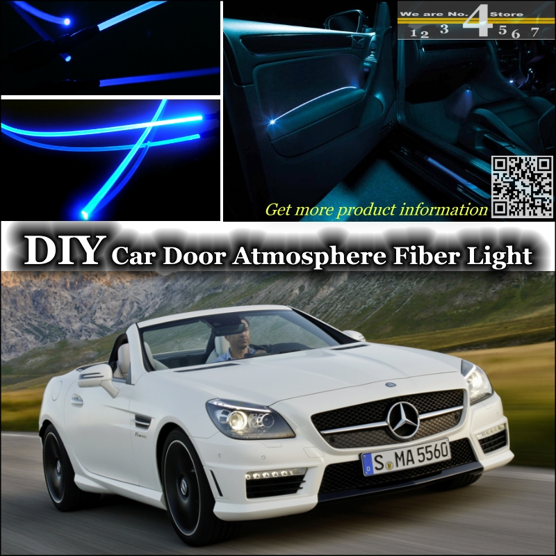 interior Ambient Light Tuning Atmosphere Fiber Optic Band Lights For Mercedes <font><b>Benz</b></font> <font><b>SLK</b></font> MB R170 R171 <font><b>R172</b></font> Door Panel Tuning image