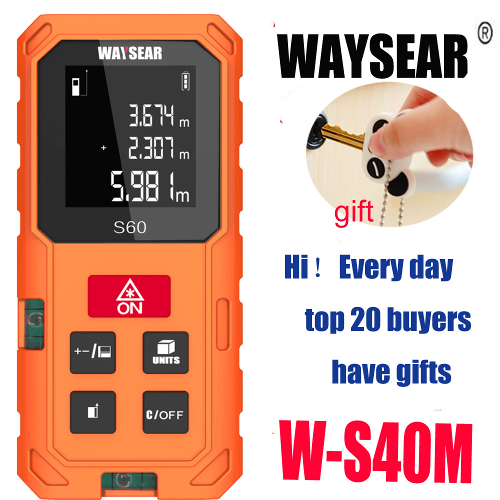laser rangefinder range finder 40M 60M 80M 100m Electronic laser distance meter Ruler Measure Roulette tren Tape tools roulet laser range finder 40m 60m 80m 100m digital laser distance meter tape area volume angle engineer measure construction tools