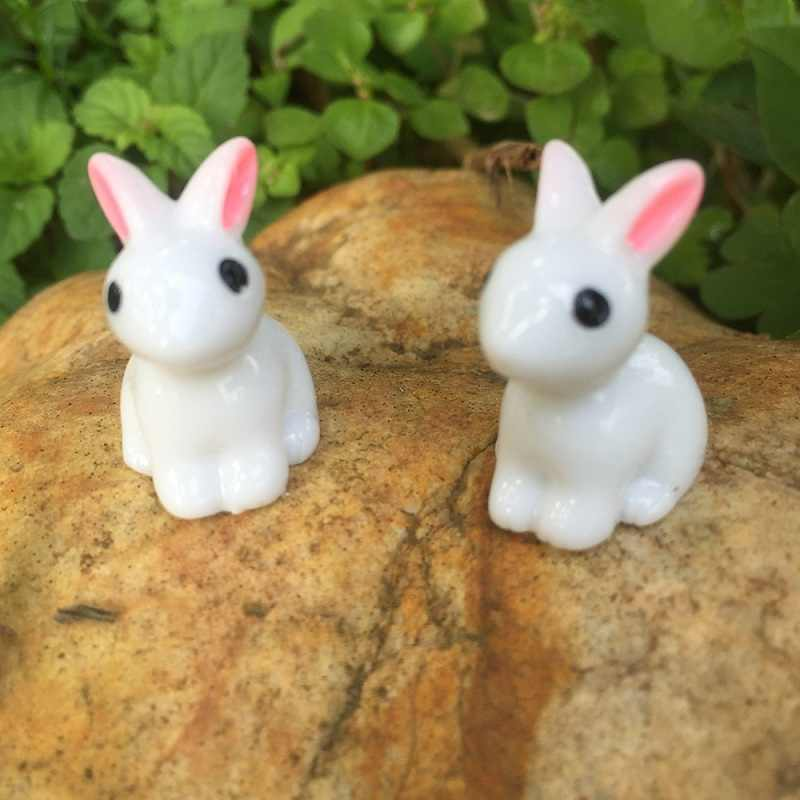 1 Pieces Steppe Grass Rabbit Lovely Cony Coney Hare Model Small Statue Little Figurine Crafts Figure Ornament Miniature Pastoral