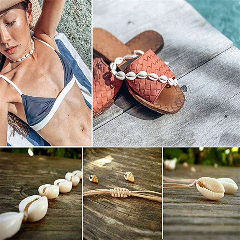 Seashell Choker Necklace Bracelet Handmade Rope Cord Beach Jewelry for Summer in Chain Necklaces from Jewelry Accessories