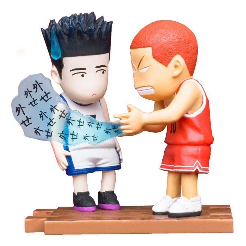 5 Pieces Lot Anime Slam Dunk Pvc Action Figures Toys Boys Basketball
