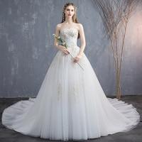 Long trailing wedding dress 2019 new bride Korean style Qidi Sen large size lace vibrato with the same paragraph wedding spring