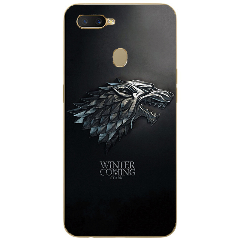 GOT Game Of Throne House Stark Soft Silicone Painting Case For Oppo Realme C1 C2 U1 1 2 3 Pro X Lite Mobile Phone Printed Cover