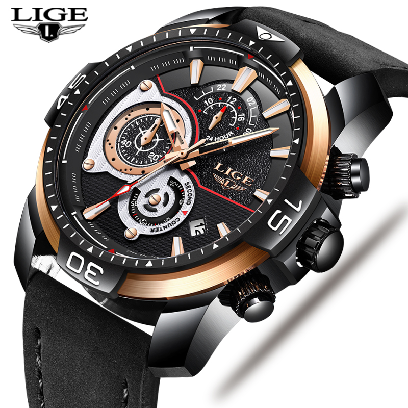 2019 Top Luxury Brand LIGE New Mens Business Leather Watch Men Military Waterproof Sport Quartz Wristwatch Relogio Masculino2019 Top Luxury Brand LIGE New Mens Business Leather Watch Men Military Waterproof Sport Quartz Wristwatch Relogio Masculino