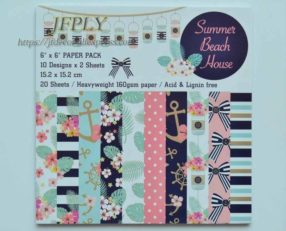 Summer Series Scrapbooking  Paper Pack  Craft  Paper  Art Card  Card Making  6