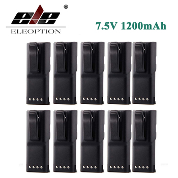 ELEOPTION 10PCS 7.5V 1200mAh HNN9628 Ni-CD Battery for MOTOROLA HNN9628 HNN9628A HNN9628AR HNN9628B GP300