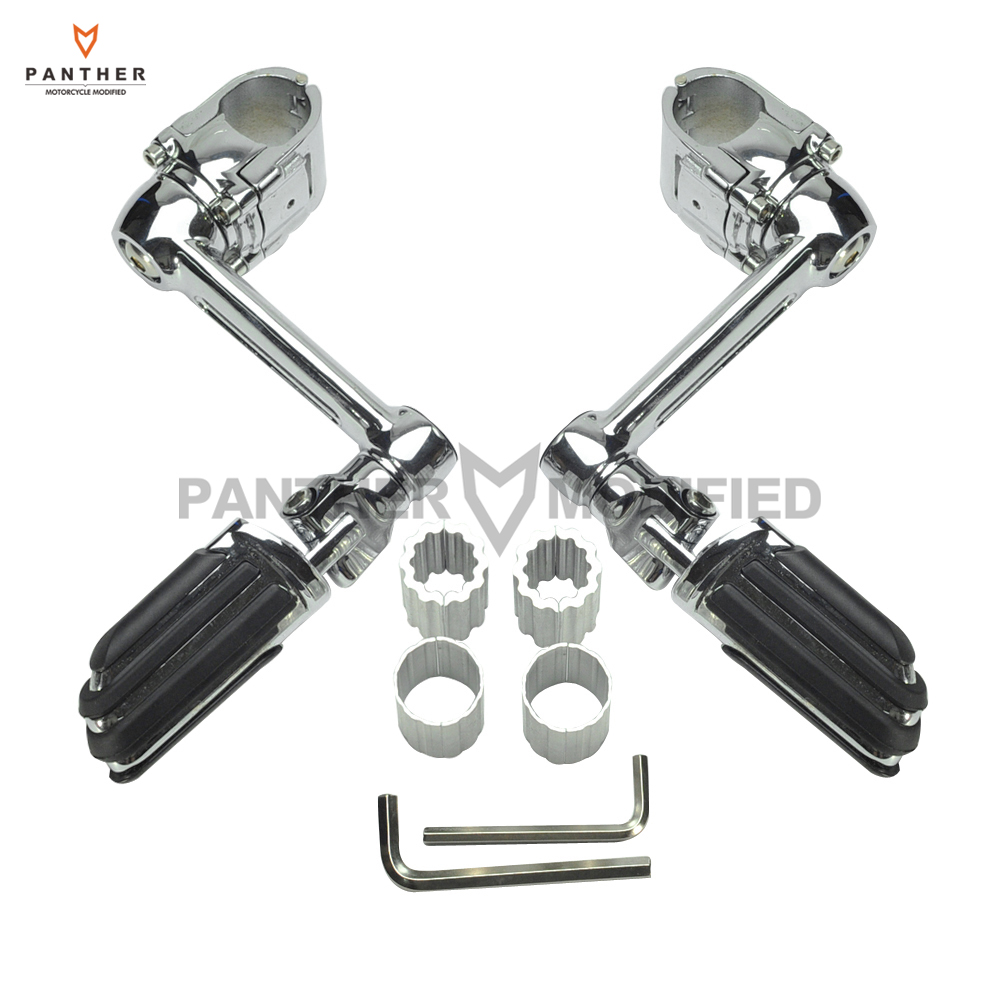 22mm 30mm 35mm Chrome Motorcycle Front Pegs Adjustable Driver Floorboards Moto Foot Rest case for Honda Goldwing GL1800 chrome front foot rest foot pegs for honda goldwing gl1500 gl1100 gl1200