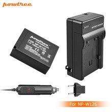 цена на 1X 7.2V 1600mAh Li-ion NP-W126 Camera Battery+Battery Charger+Car charger For Fujifilm FinePix HS30EXR HS33EXR X-Pro1 X-E1 L15