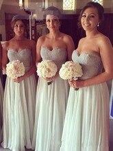 2016 New Long Bridesmaid Dresses Lace Sweetheart Chiffon Hot Sale