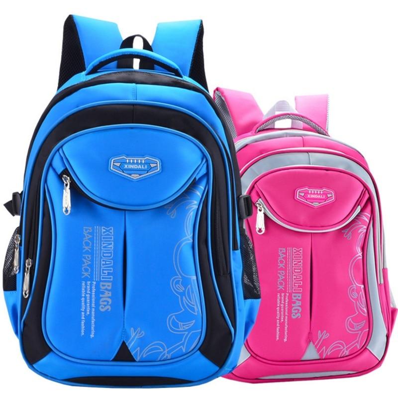 8893a05414 Nylon Children School Bags Primary Orthopedic Backpack Teenager Student  Schoolbag Boy Girls Mochila Waterproof Book Bag Rucksack