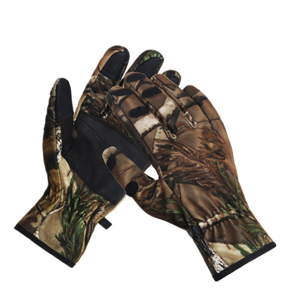 Fingerless gloves hunting - Outdoor Camouflage Tactical Gloves Fingerless Hunting Photographing Waterproof Breathable Gloves China Mainland
