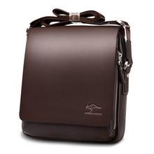 99b58657854f Новый кенгуру Элитный бренд Для мужчин сумка Винтаж кожа сумка для Для  мужчин красивый Повседневное сумка мужская Сумки